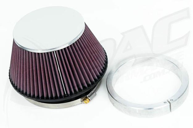 Picture of HIGH FLOW POD FILTER & ADAPTER - 5 INCH INLET/130mm LENGTH