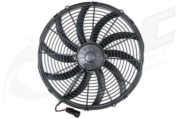 16 Inch H  D Slimline Thermo Fan  Pac Performance Racing