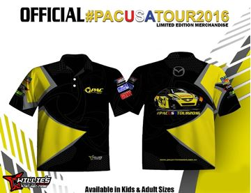 Picture of #PACUSATOUR2016 SUBLIMATED POLO SHIRT