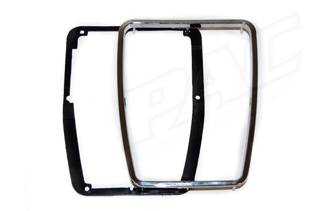 Picture of MAZDA RX3/ 808 GEARSHIFT CONSOLE SURROUND CHROME PLASTIC TRIM AND BACKING