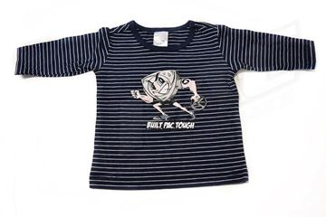 Picture of BABIES NAVY STRIPED LONG SLEEVE SHIRT 'BUILT PAC TOUGH'