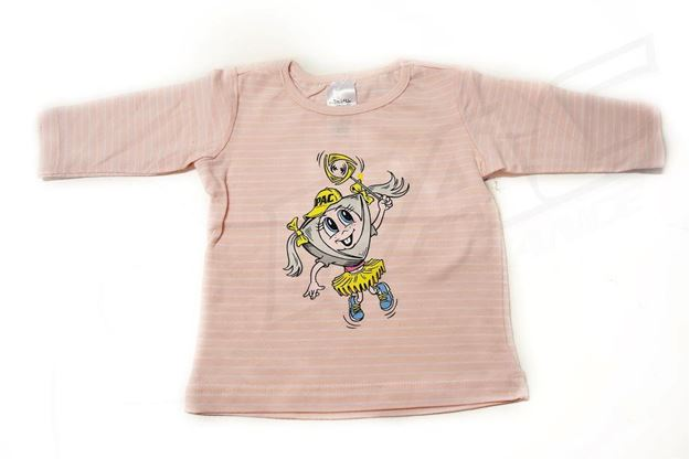 Picture of BABIES PINK STRIPED LONG SLEEVE SHIRT 'PAC GIRL'