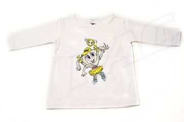 Picture of BABIES WHITE LONG SLEEVE SHIRT 'PAC GIRL'