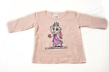 Picture of BABIES PINK STRIPED LONG SLEEVE SHIRT 'PAC PRINCESS'