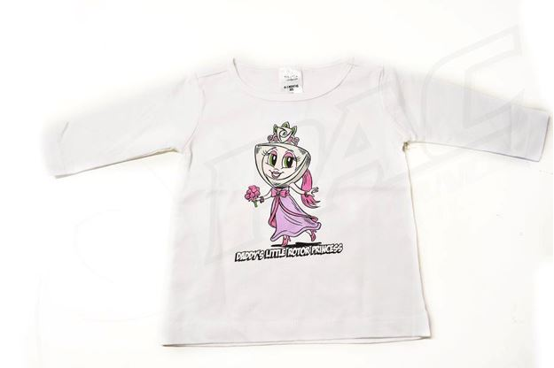 Picture of BABIES WHITE LONG SLEEVE SHIRT 'PAC PRINCESS'