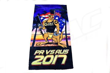 Picture of 'PR VS AUS 2017'  BEACH TOWEL