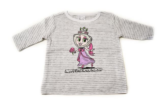 Picture of BABIES GREY STRIPED LONG SLEEVE SHIRT 'PAC PRINCESS'