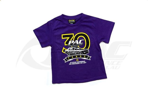 PAC PERFORMANCE 30TH ANNIVERSARY T-SHIRT KIDS PURPLE